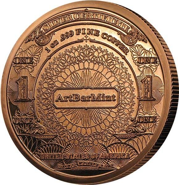 1 AVDP-Unze Kupfer Eagle Banknote Replica