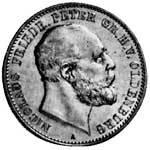 2 Mark Oldenburg Nikolaus Friedrich Peter 1891 Sehr schön