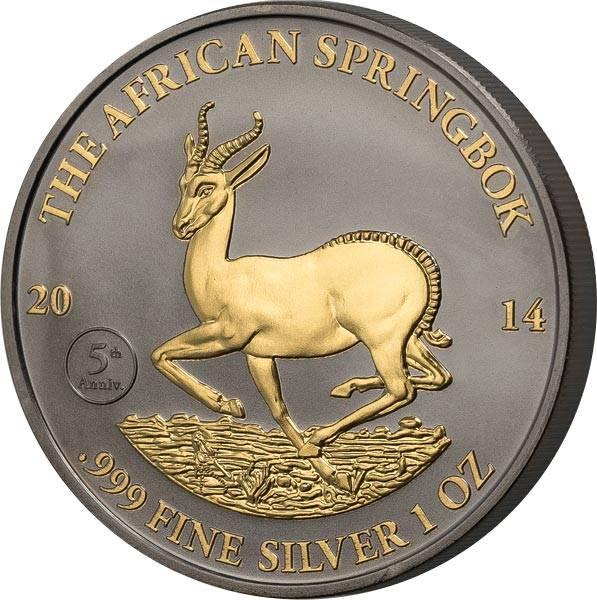 1.000 Francs Gabun Springbock 2014 Golden Enigma Edition - FOTOMUSTER