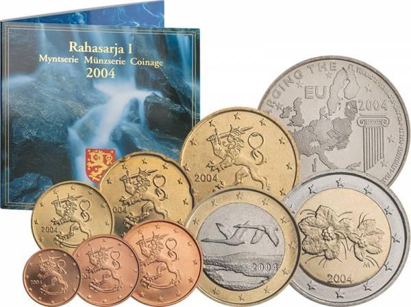 Euro-Kursmünzensatz Finnland inklusive Gedenkprägung 2004