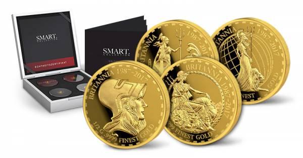 4 x 10 Dollars Salomonen Smart Collection 30 Jahe Britannia 2017 Edition II