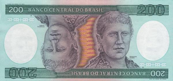 200 Cruzeiros Banknote Brasilien Prinzessin Isabel 1984