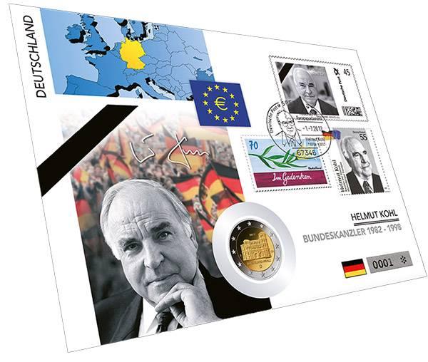 2 Euro Numisbrief BRD Helmut Kohl 2017