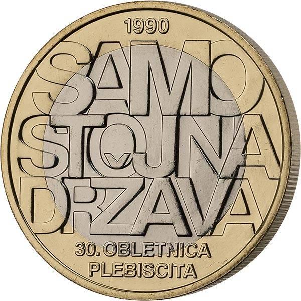 3 Euro Slowenien 30 Jahre Referendum zur Unabhängigkeit 2020