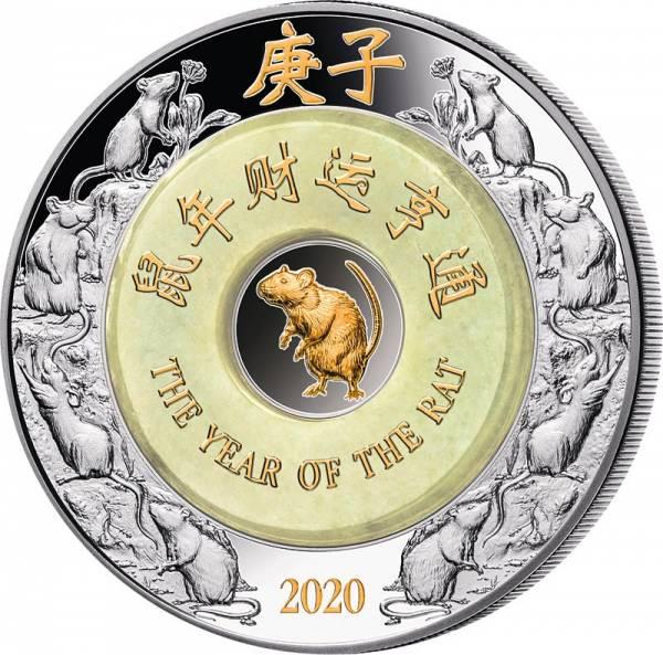 2 Unzen Silber Laos Jahr der Ratte 2020