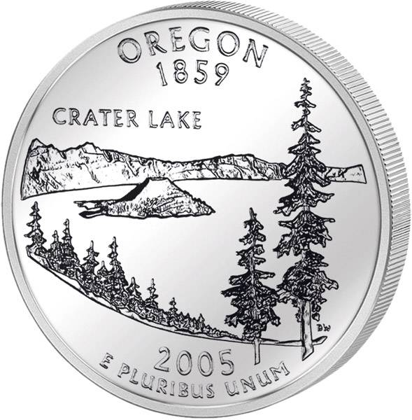 Quarter Dollar USA Oregon 2005
