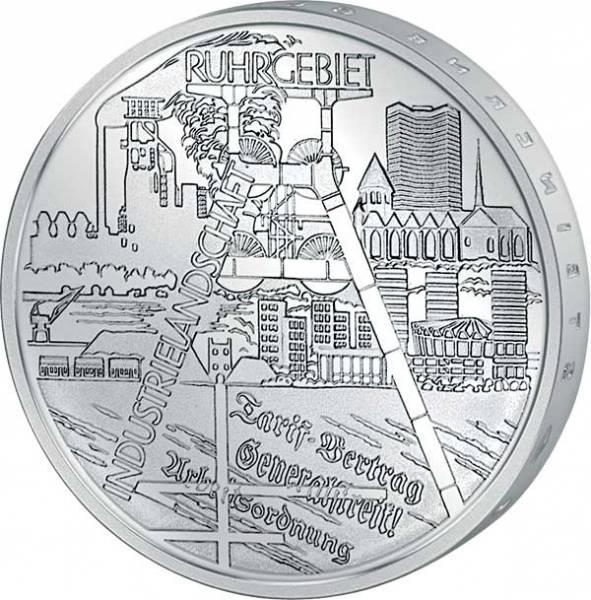 10 Euro BRD Industrielandschaft Ruhrgebiet 2003