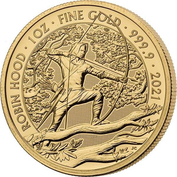 1 Unze Gold Großbritannien Robin Hood 2021