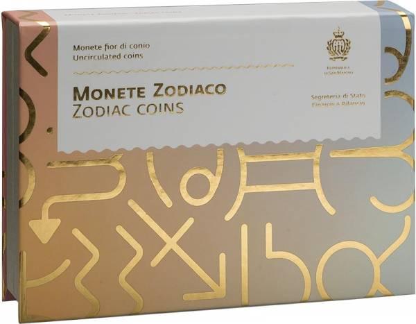Münz-Box für 5-Euro-Münzen San Marino Tierkreiszeichen 2018-2021
