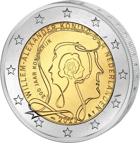 2 Euro Niederlande 200 Jahre Königreich 2013 prägefrisch