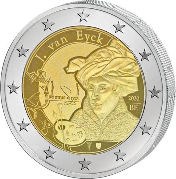 2 Euro Belgien Jan van Eyck 2020