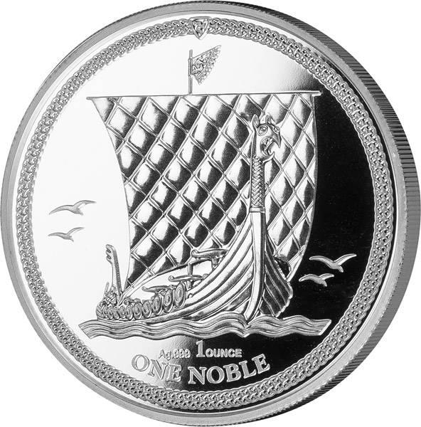 1 Unze Silber Isle of Man Wikingerschiff 2018