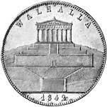 Taler Geschichtsdoppeltaler Ludwig I 1842  vz-st
