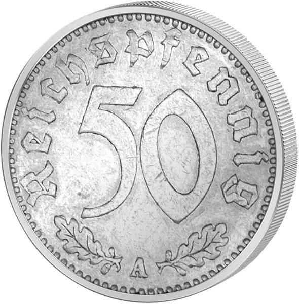 50 Reichspfennig Adler 1935   sehr schön