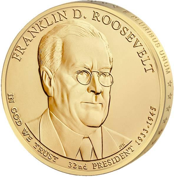 1 Dollar USA Franklin D. Roosevelt 2014 Stempelglanz