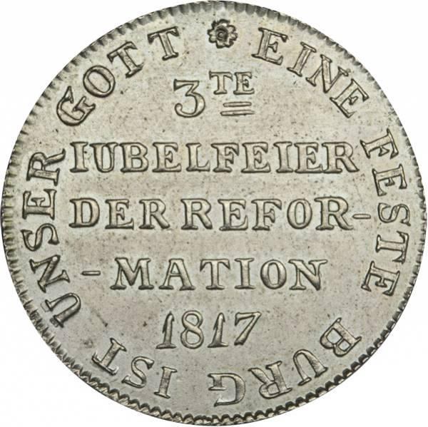 Doppelter Silberdukat Frankfurt, Freie Reichsstadt 300-Jahr-Feier der Reformation 1817