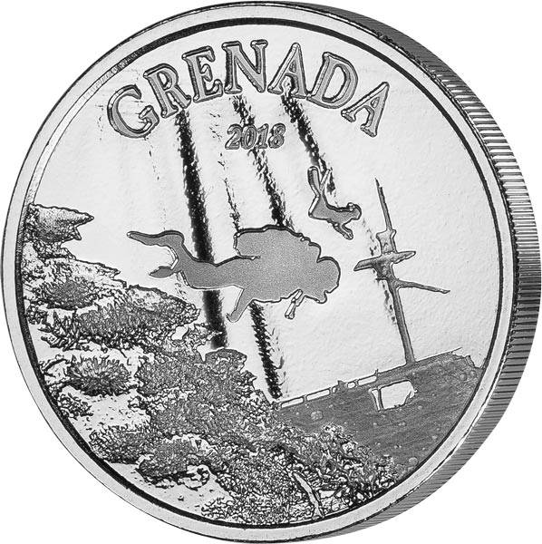1 Unze Silber Grenada Taucherparadies 2018