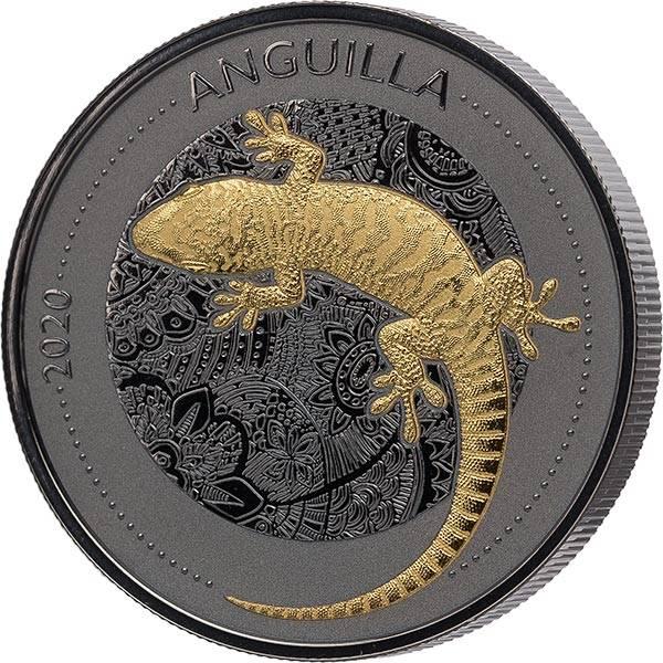 1 Unze Silber Anguilla Gecko 2020