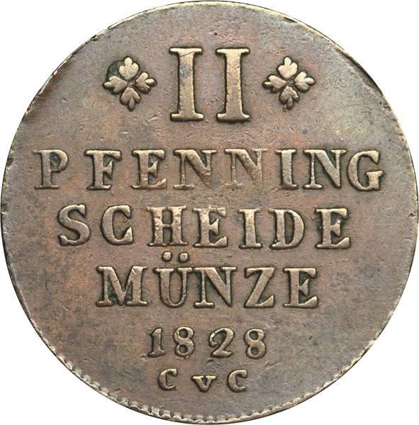2 Pfenning Braunschweig Herzog Karl 1824-1830