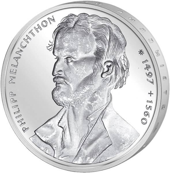 10 DM BRD  Philipp Melanchthon 1997 Unsere Wahl vorzüglich