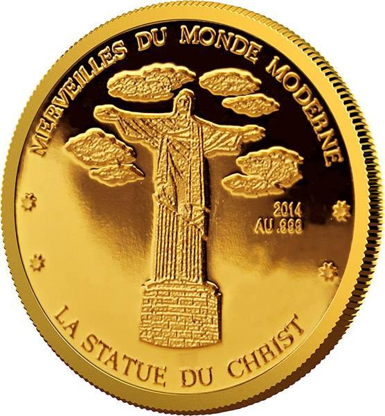 100 Francs Niger Christusstatue 2014