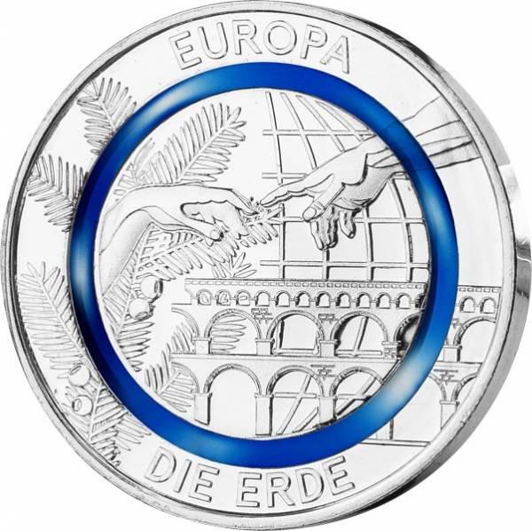 Gedenkprägung Erde Europa