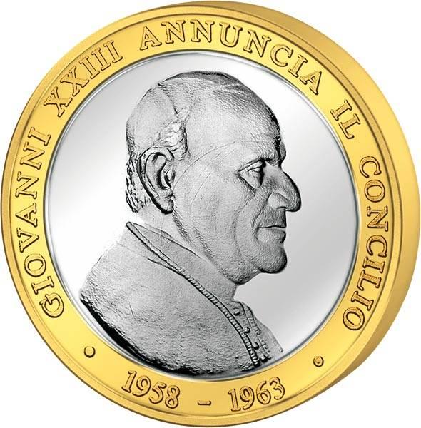 Gedenkprägung Ankündigung 50 Jahre II. Vatikanisches Konzil