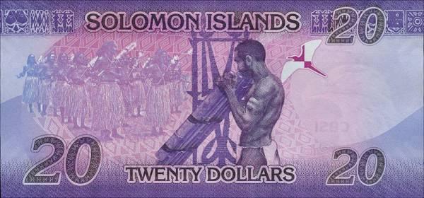 20 Dollars Salomonen Banknote 2017