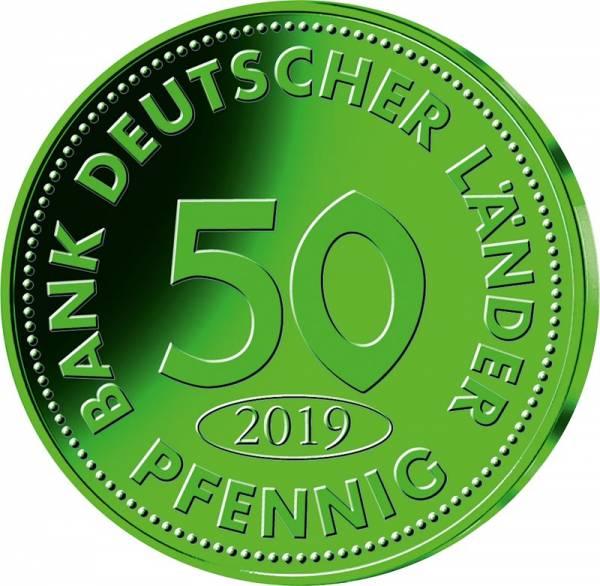50 Pfennig BRD grünes Titan 2019