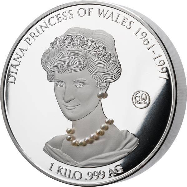 10.000 Francs Elfenbeinküste 60. Geburtstag von Lady Diana 2021