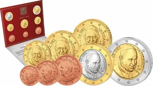 Euro-Kursmünzensatz Vatikan 2015 Ersttags-Edition Stempelglanz - Liefertermin voraussichtlich Anfang April