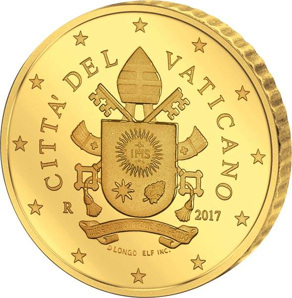 50 Cent Vatikan Papst Franziskus Wappen 2017