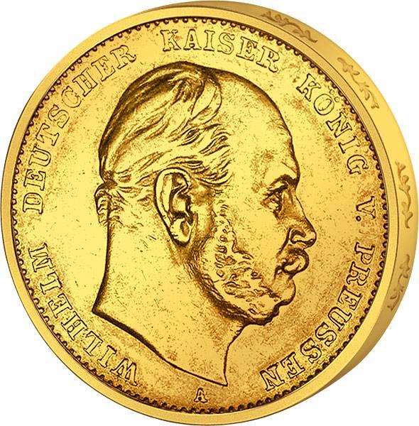 10 Mark Preußen König Wilhelm I. 1888 A vz-st
