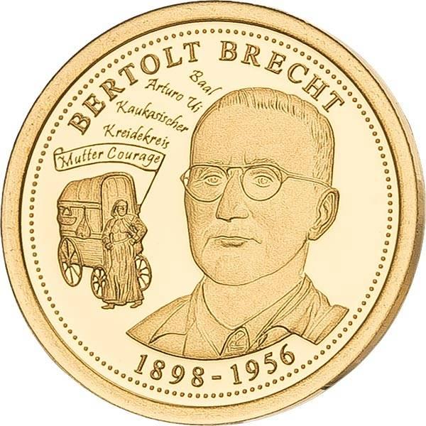 Gedenkprägung Bertolt Brecht