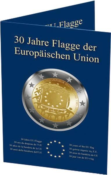 Sammelkarte für 2-Euro-Gedenkmünzen Europaflagge