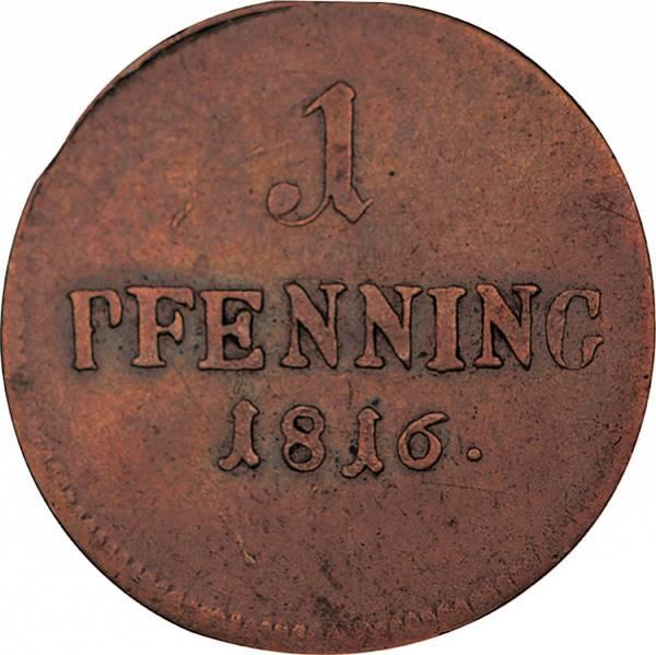 1 + 2 Pfennig Bayern König Maximilian I. Joseph