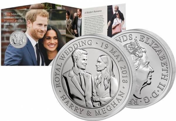 5 Pounds Großbritannien Königliche Hochzeit Henry und Meghan 2018