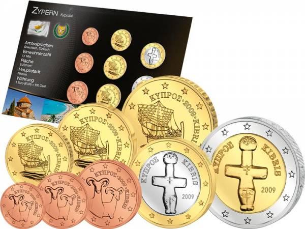 Premium-Euro-Kursmünzensatz Zypern