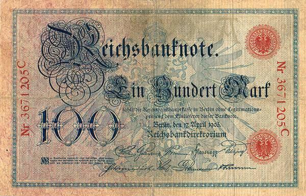 100 Mark-Schein Deutschland