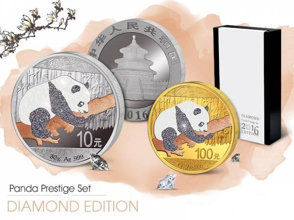 Panda Prestige Set 2016   China Stempelglanz/Polierte Platte