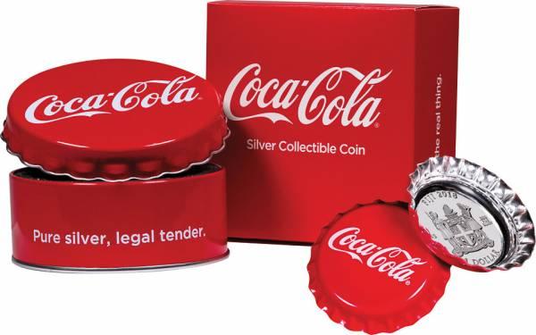 1 Dollar Fidschi Coca Cola Kronkorken 2018