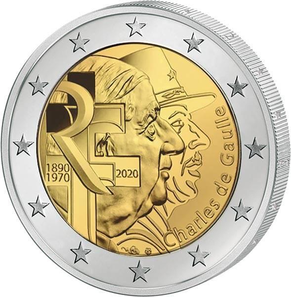2 Euro Frankreich Charles de Gaulle 2020