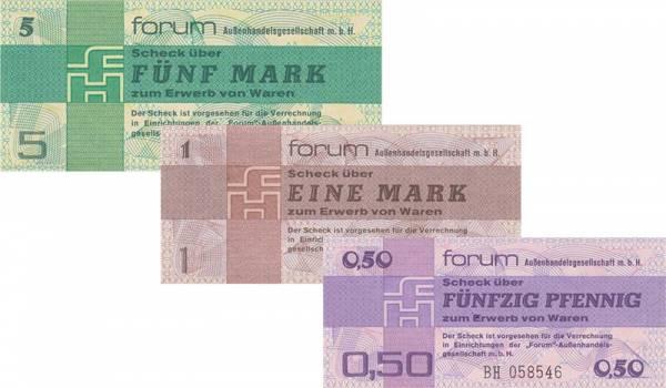 50 Pfennig - 5 Mark DDR Banknoten Forum Außengesellschaft