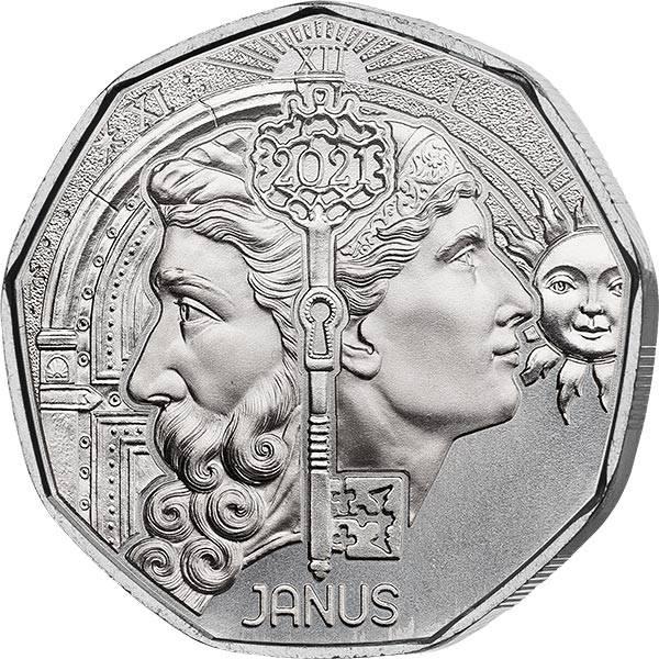 5 Euro Österreich Neujahr Janus 2021