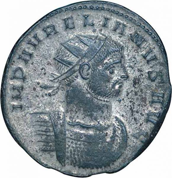 Antoninian Billon Rom Kaiser Aurelianus 270-275 n.Chr. ss-vz