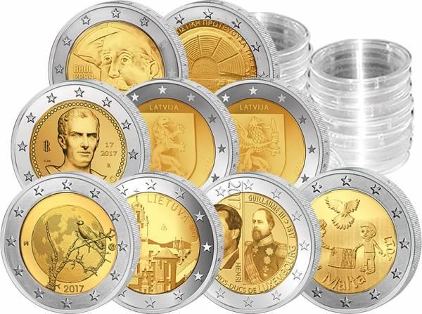 9 x 2 Euro Jahrgangsset 2017