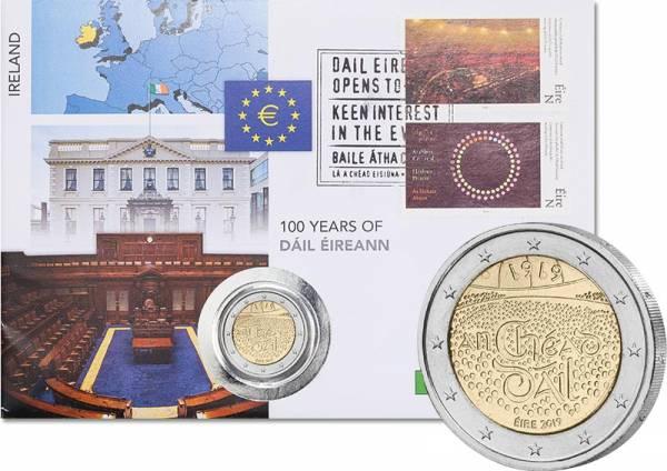 2 Euro Numisbrief Irland 100. Jahrestag der ersten Versammlung in Dáil Éireann 2019