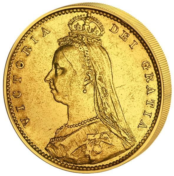 1/2  Sovereign Großbritannien Queen Victoria 1887-1893 Sehr schön