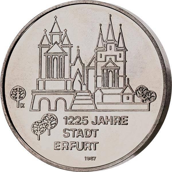 DDR Gedenkprägung Dom und Severikirche in Erfurt