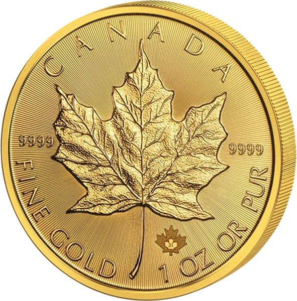 1 Unze Gold Kanada Maple Leaf 2021